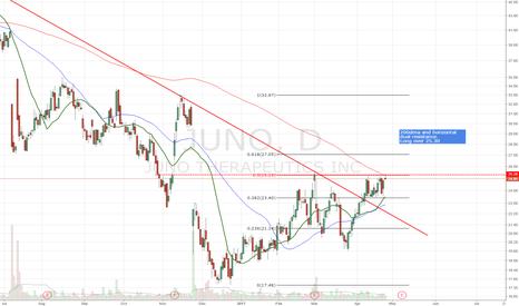 JUNO: 200dma and horizontal dual resistance.