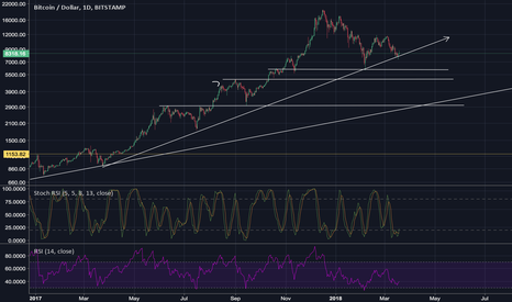 BTCUSD: Major support trend line retest before new highs.