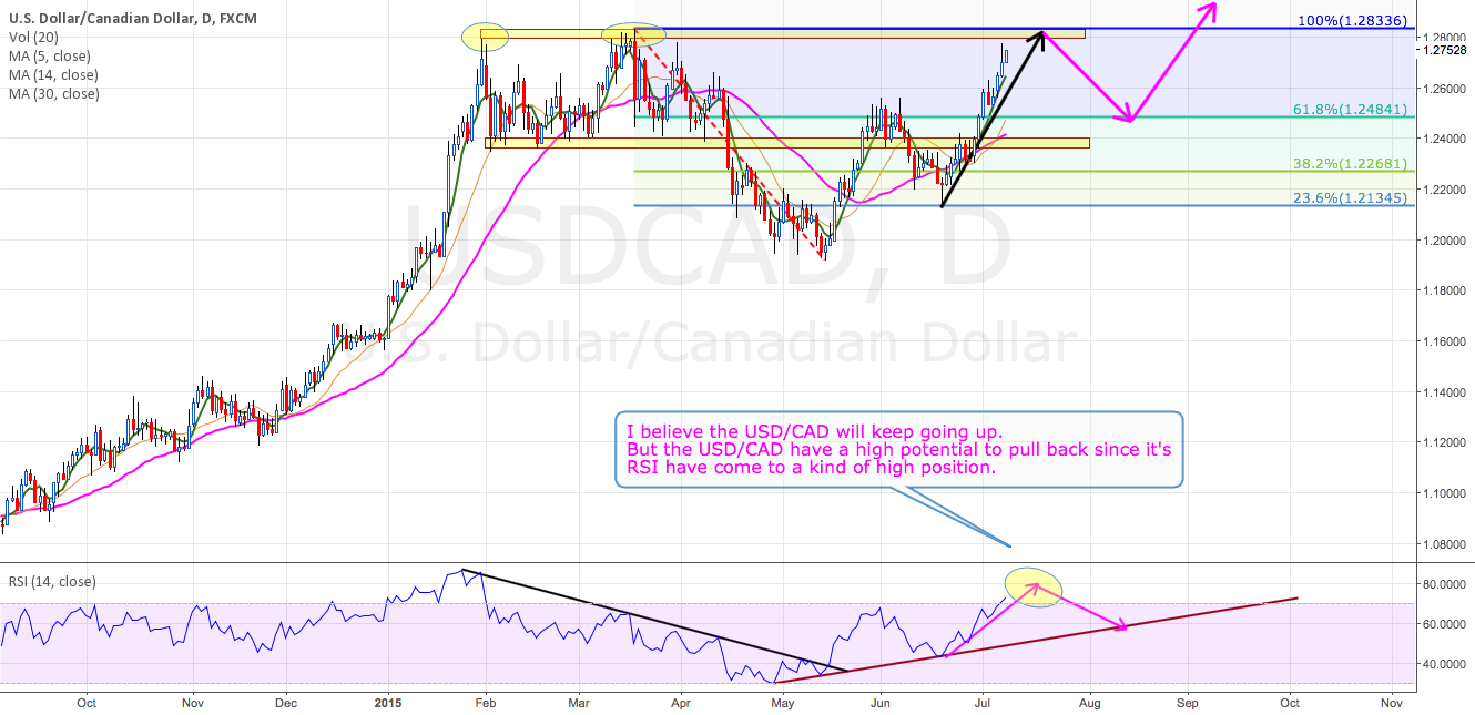 USD/CAD DAY-CHART Analysis