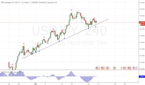 USDJPY: ドル円、トレンド終了に見える