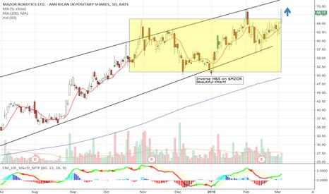 MZOR: Inverse H+S on $MZOR Chart - target $85