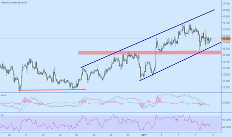 XAGUSD: Silver double bottom and channel