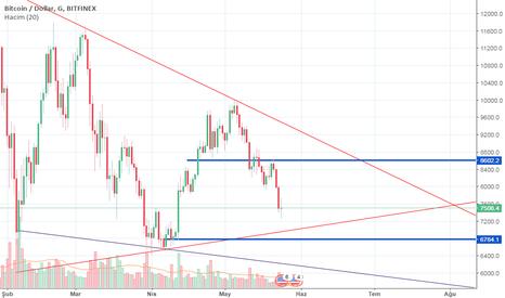 BTCUSD: Bitcoin Mayıs Ayı Son Dip seviyesi 6.700
