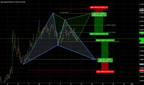 NZDUSD: Take your pick a Bullish Bat or Bearish Gartley?
