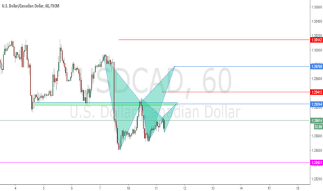 USDCAD: Possible Bat Patterns