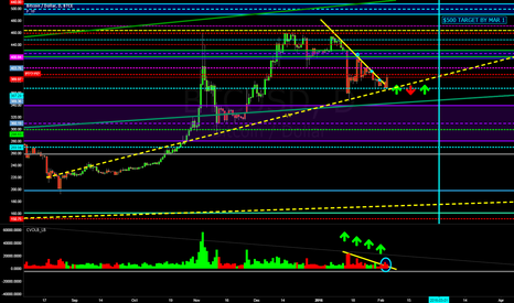 BTCUSD: $BTCUSD BULL WAVE TO $500 BY END OF FEBRUARY