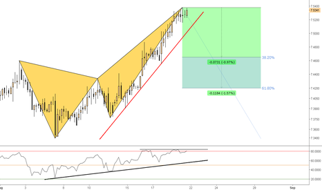 EURCNY: (4h) Bearish Butterfly (extended)