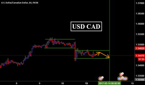 USDCAD: USD CAD 13 march 2017 overview