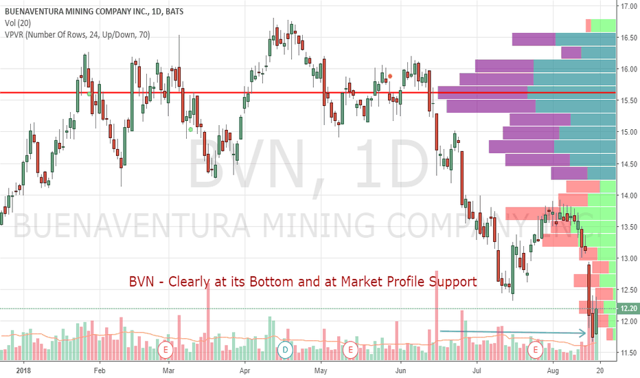BVN: BVN - Clearly at its Bottom and at Market Profile Support
