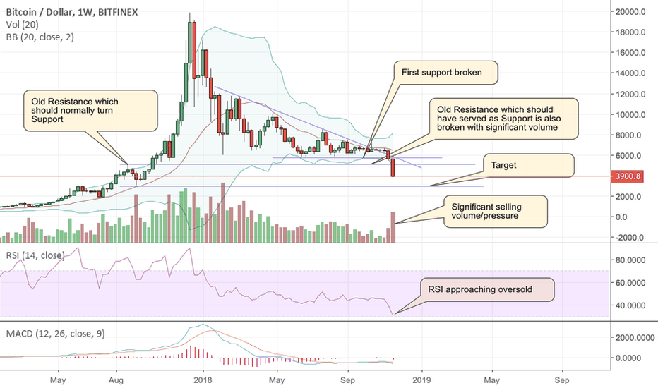 BTCUSD: Is Bitcoin heading to $3000 (Approximately) to find Support?
