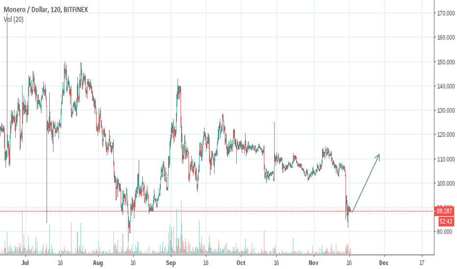 XMRUSD: BCH uncertainty will drive investors to Litecoin and Monero