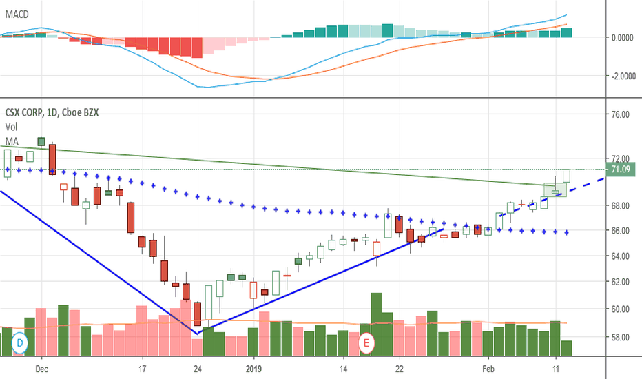CSX: As I said on Feb 8th update..  still looking good