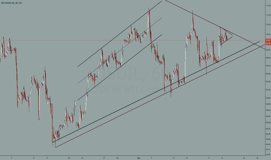 USOIL: Crude oil 60 min chart study