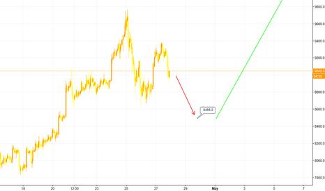 BTCUSD: Bitcoin #3 - Broke $9000 easily, bearish flag, $8500 target