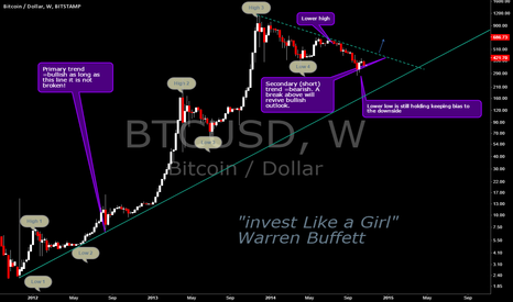 BTCUSD: Higher High and Higher Low Long Term Chart Dow Theory
