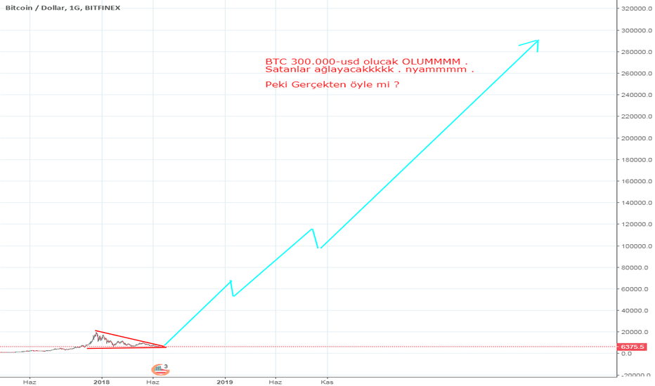 BTCUSD: BTC 300.000 usd olacak --- MI ? GERÇEKTEN ÖYLE Mİ ?