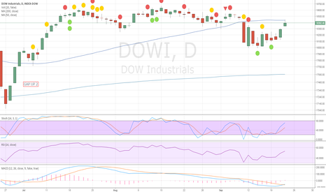 DOWI: Closed the Gap down at 18440