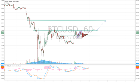 BTCUSD: BTC/USD Retesting 220.  consolidation above 210