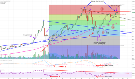 BTCUSD: Multiple indicators/patterns suggest a medium term BTCUSD drop