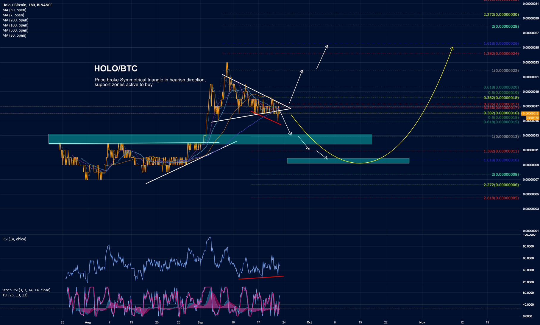 HOLO coin Symmetrical Triangle, be careful!