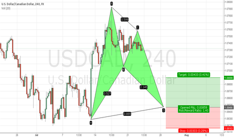 USDCAD: Bullish Bat USD CAD