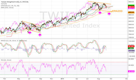 TWII: Taiwan Weighted Stock Index Daily (13.Sep.2014) Tech. Analysis