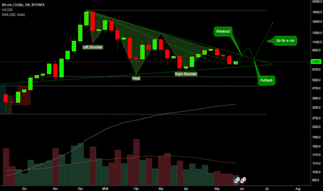 BTCUSD: BTC bullish wedge and head and shoulders