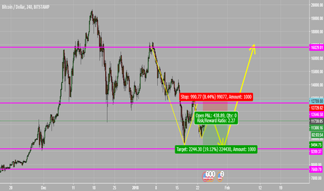 BTCUSD: A Possible movement for the Crypto