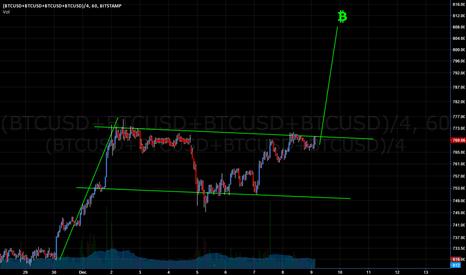 (BTCUSD+BTCUSD+BTCUSD+BTCUSD)/4: Bitcoin to break $800 on a Bullish Flag Breakout? Go BTC!