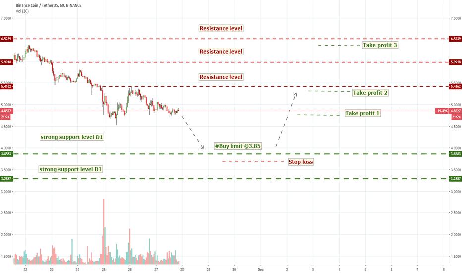 BNBUSDT: BNBUSD (Volume Analysis Prediction 11/27/2018)