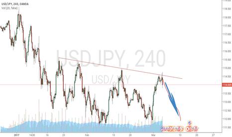 USDJPY: USD / JPY start falling ?