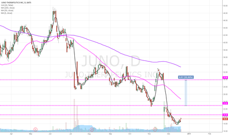 JUNO: Gap trade with longer dated calls.