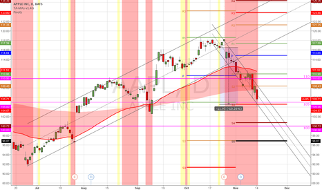 AAPL: (D) May test lower if bear momo cont.