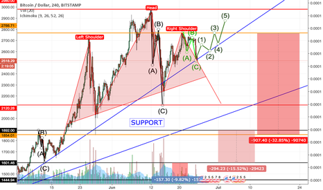 BTCUSD: Two options, guess what they are.