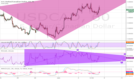 "USDCAD: RSI Flag Confirmation on ""bat comming up"""