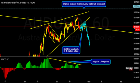 AUDUSD: AUDUSD Possible breakout lower