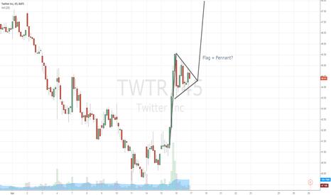 TWTR: TWTR Flag + Pennant on 30 minute chart