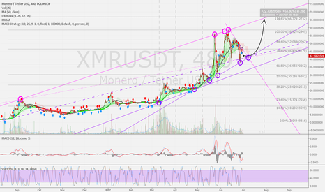 XMRUSDT: XMRUSD 8h: July forecast - up to 65 USD possible.