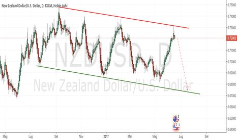 NZDUSD: NZDUSD short dopo il rialzo dei tassi di giovedi 15 giugno 2017